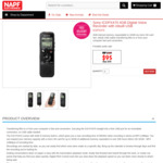Sony ICDPX470 4GB Digital Voice Recorder with Inbuilt USB $95 Delivered @ NAPF