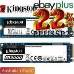 Kingston NV1 1TB 2100MB/s PCIe Gen 3 NVMe M.2 (2280) SSD $119.20 ($116.22 eBay Plus) Delivered @ Shopping Express
