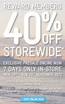 40% OFF at Jeanswest Start on Monday