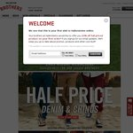 Hallenstein's - Half Price Denim, Chinos, Tees, Singlets and Shorts for 24 Hours! $4 Delivery