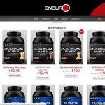 100% WPI Whey Protein - Enduro Platinum Whey 3kg for $95 Delivered
