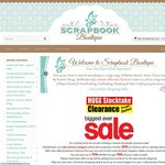 ScrapbookBoutique.com.au - over 3000+ Products on Sale up to 75% off + 10% off on 1st Order