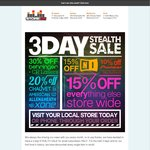 StoreDJ 3-Day Stealth Sale, 10% - 30% off Everything in Store