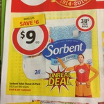 Sorbent Toilet Paper 24 Pack $9 at Coles (Only $0.37 per Roll) Starts 02/04