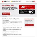 NABTrade - 20 Free Trades Online + Free Share Trading Research Package ($490 Value)