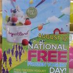FREE Yogurtland Frozen Yogurt => 12th August 4-7pm - All Stores