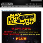 Star Wars Sale - 15% off Star Wars Items, Free Shipping & Free Gifts over $150 spend & More