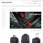 Save 40% off The Price of Samsonite & American Tourister until Sunday at David Jones Online