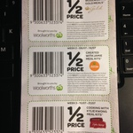 Woolworths Half Price Ready Meals with Coupon