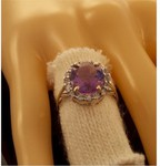 $60 off Coupon Plus Free Shipping on Amethyst Solid Gold Ladies Ring - $225 @ Free Choice World