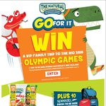 Win a Family Trip to The Olympic Games or Instant Win Prizes (10 Speedo Prizes Daily) from The Natural Confectionery Co