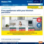 Free Appliances With Your New Kitchen Purchase @ Masters  *with conditions ends 30/3/16