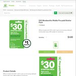 Woolworths Mobile $30 Pre-Paid Starter Pack for $1 + $2 Delivery, New Activations Get 6GB Data (Online Only)