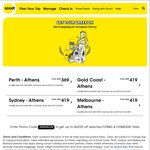 SYD/MEL/OOL to Athens $419 One Way, $838 Return | PER-ATH $369, $738 Return | @ Scoot Airlines