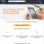 Free $5 USD (~ $6.50 AUD) Amazon Gift Card with First Time App Sign in