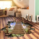 60cm x 90cm '3D Bridge' illusion Floor/Wall Sticker USD$2.50 (AUD$3.34) Delivered @ Sammydress