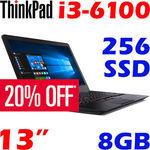 Lenovo ThinkPad 13 Core i3 6100U 8GB 256GB SSD Business Ultrabook Win10 PRO  $718.40 @ OzBuy eBay