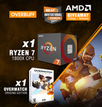 Win an AMD Ryzen™ 7 1800X CPU Worth $659 & Overwatch: Origins Edition from Beat eSports/AMD/Overbuff