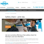 [NSW] Free Pink Slip Vehicle Safety Check with NRMA Car Servicing