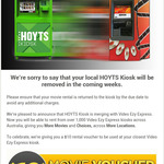 Video Ezy Express Kiosk $10 Movie Voucher