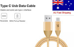 LC USB Type C Cable 1M Braided with (56k Pull up Resistor) for Samsung S8 S8+ Note 8 $3.95 from Melb @ Luminant Connections eBay