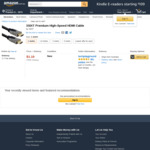3SIXT Premium High-Speed HDMI 1M Cable $1.10 + Free Delivery from techplayground @ Amazon AU