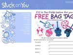 Stuck on You Labels FREE Bag Tag (Non-Personalised)