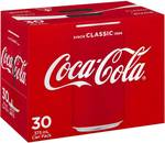 Coke 30 Pack Varieties $17.2 @Woolworths [Excludes SA/NT]