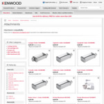 Up to 80% off Kenwood Attachments @ Kenwood Official Website