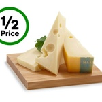 ½ Price Fresh Round Loaf Maasdam Cheese $9/kg, Frico Shaved $9.99/kg @ Woolworths