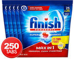 Finish 'Max in 1 Powerball Super Charged Powerball' Dishwashing Tablets 250 for $46.98 (18.8c Each) @ Catch of The Day eBay