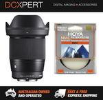 Sigma 16mm F/1.4 DC DN Contemporary Lens for Sony E & 67mm Hoya UV Filter $471.20 @ DCXpert eBay