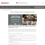 Win a Hunter Valley Gourmet Escape for 8 Worth $7,735 from Wine Selectors