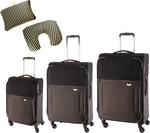 Samsonite Uplight SPL - BlackGrey Softside Spinner (Set of 3) Plus Bonus Pillow: $424.90 Delivered (RRP $1291.95) @ Luggage Gear