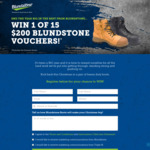 Win 1 of 15 $200 Blundstone Vouchers from Southern Cross Austereo [NSW/QLD/VIC]