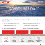 7 Points Per $1 + Bonus 15000 Qantas Frequent Flyer Points by Joining Red Energy Plus Electricity & Gas Plan
