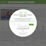 10% off Sitewide (Maximum Discount $40) @ Groupon