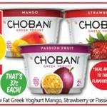 [VIC] Chobani Yoghurt Tubs 170gm 8 for $3 @ NQR