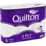 ½ Price Quilton 3 Ply White Toilet Tissue 6pk $2.75 (Was $5.50) @ Coles