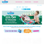 Storewide Sale Flat 25% off Everything @ TRUNKI Australia Online
