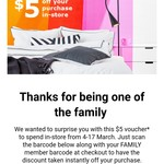 $5, $10 or $20 off @ IKEA (Family Membership Required)