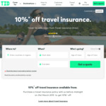 10% off Travel Insurance @ Travel Insurance Direct