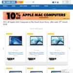 10% off Apple Mac Computer @ The Good Guys and Officeworks