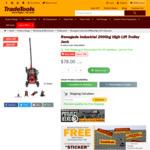 Renegade Industrial 2000kg High Lift Trolley Jack RIQL2000DY $78 Delivered @ TradeTools