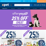 AfterYAY Sale | 25% off RRP Selected Items @ PETstock - Free Ship > $25 (Shipping Varies from $4.95-$9)
