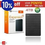 Seagate 4TB Expansion Portable Hard Drive $134.95 + Delivery ($0 with eBay Plus) @ Apus Express eBay
