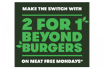 2 for 1 Beyond Burgers (Buy One, Get One Free) @ Grill'd for Mondays in September