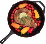 "Rippl Cast Iron Skillet 12"" Frying Pan with Handle $27.56 + Delivery (Free with Prime) @ Amazon US via AU"