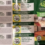 [VIC] Spend $100 or More and Save $20 @ Woolworths Malvern & Glen Huntly