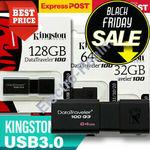 10% off Kingston DataTraveller USB Sticks: 16GB $7.15, 32GB $9.85, 64GB $14.35, $128GB $26.95 Delivered @ eBay Electro-Realm-Oz
